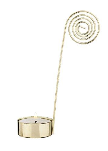 Teelichteinsatz 1-armig, gold glänzend, 2 Stück