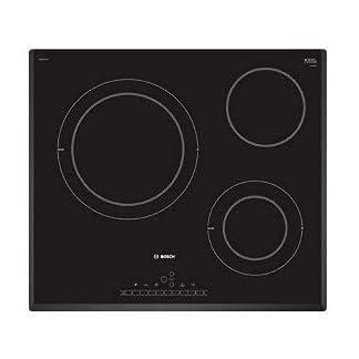 Bosch Serie 6 PKK651FP2E – Placa Vitroceramica Integrado, Vidrio y cerámica, Negro, 1200 W
