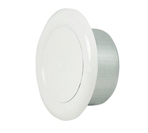 Invero® Universal Metall rund Deckenleuchte Air Extrakt Ventil Vent Cap (10,2cm Zoll 100mm Durchmesser)-weiss pulverbeschichtet -