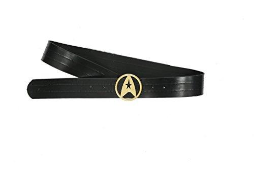 BIRDEU Starfleet PU Leder Gürtel mit Abzeichen Schnalle Cosplay Kostüm Zubehör für Sammlung Geschenk Merchandise