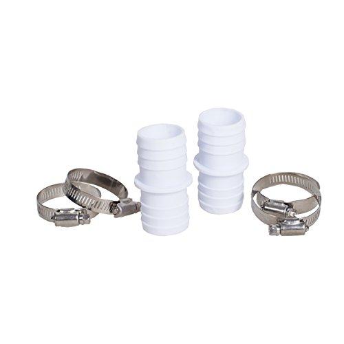 Preisvergleich Produktbild 2 passgenaue Schlauchverbinder,  universal für 38 mm auf 38 mm,  mit 4 breiten Edelstahl Schlauchschellen