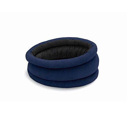 OSTRICHPILLOW LIGHT Cuscino da viaggio per aero, auto, ufficio, supporto per il collo per volare, cuscino per pisolini. Accessorio da viaggio per uomo e donna -Colore Blu Notte - Moonlight Blue