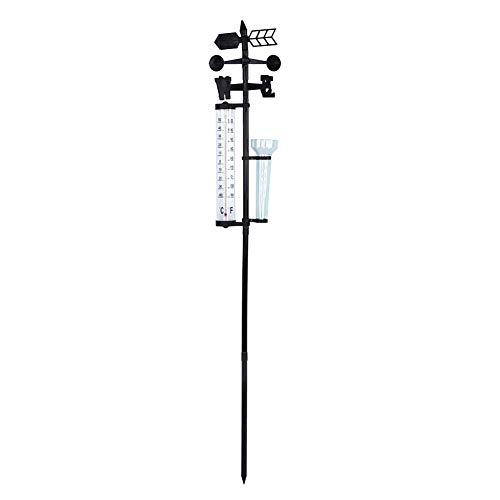 GLOGLOW 3 en 1 Estación meteorológica Medidor Termómetro de jardín al Aire Libre Indicador de Viento...
