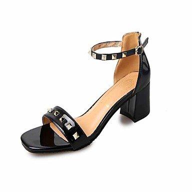 Les talons de femmes Club d'été parti en simili cuir Chaussures & tenue de soirée Casual Talon Rhinestone Buckle Noir Rouge Beige Walking Black