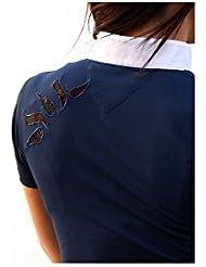 Polo Glamback Alexandra Ledermann Sportswear, polo concours équitation, polo concours manches courtes
