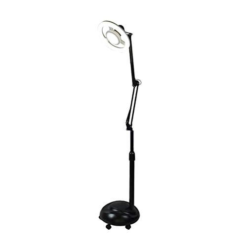 12W/24W Kosmetiklampe Schattenlose Kaltwchte LED Beauty Floor Lampe, 360 Grad rotierende Lampenkopf,...