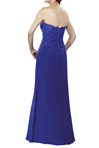 Toscana sposa Fashion Chiffon con Bolero pizzo lunghi sera party ballo vestiti blu royal