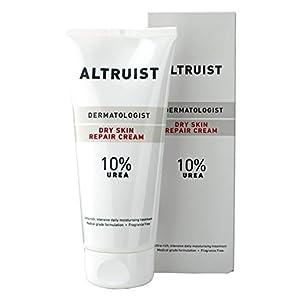ALTRUIST. Dermatologist Dry Skin Repair Cream 10% Urea – Medical grade moisturiser with Glycerin and Urea by Dr Andrew Birnie, suitable for sensitive skin – 200 ml