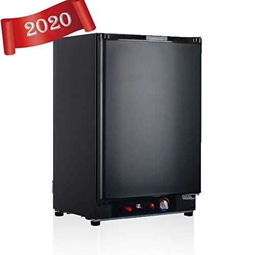 SMAD Tragbarer Gas-Kühlschrank 230V 12V LPG Gas Elektroabsorption Propankühler Schwarz 60L