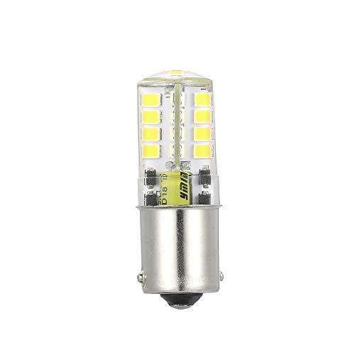 Carrfan BA-15S 5W AC / DC12V Super Lumineux Base de Contact Unique LED Ampoule halogène Remplacement pour Ampoules de Sauvegarde de Voiture (Blanc)