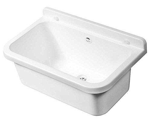 Waschbecken Spülbecken Waschwanne Becken inkl. Ablaufgarnitur und Befestigungsset ZLW 55x34x21cm