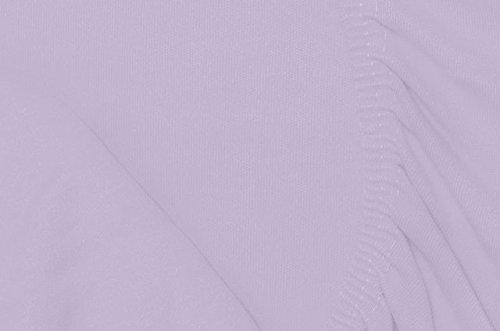 Double Jersey - Spannbettlaken 100% Baumwolle Jersey-Stretch bettlaken, Ultra Weich und Bügelfrei mit bis zu 30cm Stehghöhe, 140x200x30 Lavender - 7