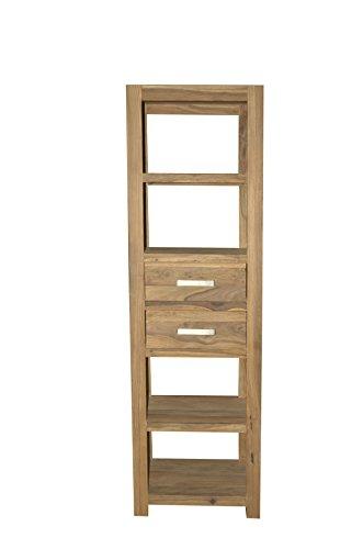 Quadrato - Regal / Bücherregal INDO, Holz Sheesham natur, Maße: B 60 x H 200 x T 40 cm
