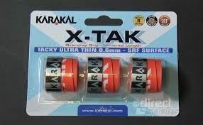 Karakal Griffband X-TAK für Tennis-, Badminton- und Squash-Schläger schwarz schwarz
