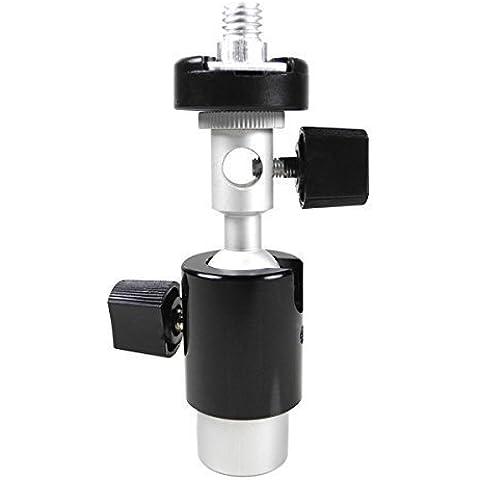 MENGS® tipo di telecamera d slitta flash 360 girevole stare staffa di supporto ombrello titolare 1/4