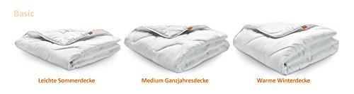 Winter Decke sleepling 190051 Basic 240 Mikrofaser Baumwolle Mischgewebe duo warm – weiß - 3