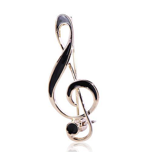 Kostüm Gute Musiker - CCJIAC Einfache Musiknote Form Brosche Emaille Broschen Für Frauen Männer Konzert Schmuck Musiker Anstecknadeln Geschenke