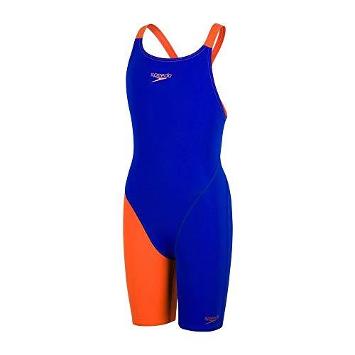 Speedo Fastskin Endurance+ Openback Kneeskin Mädchen ultrasonic/salso Kindergröße 152 2019 Schwimmanzug