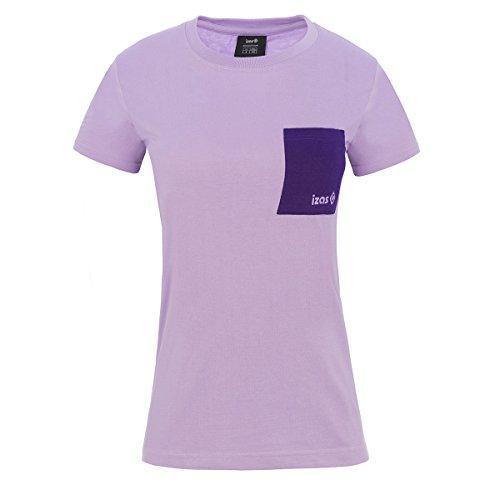 Izas Damen Dakota Kurzarm-T-Shirt, Lila/Dunkelviolett, S - Dps-t-shirt