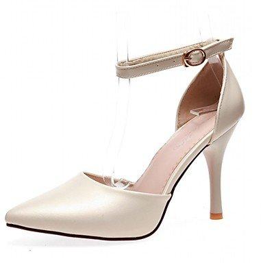 Moda Donna Sandali Sexy donna tacchi Primavera / Estate / Autunno / Inverno tacchi / Piattaforma / Novità / cinturino alla caviglia / Punta beige