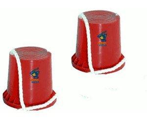 Hudora 76073 joey Topfstelzen, sortiert in rot und blau (1 Paar, Rot)