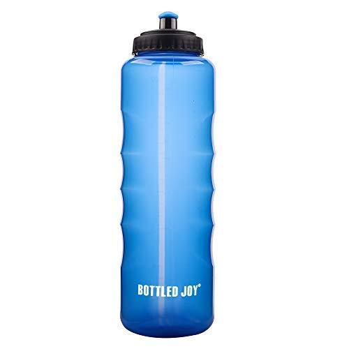 Joy Sport Flasche drücken in Flaschen, 1500ml Schlafsack Einhand Halt großes Fassungsvermögen Big Wasser Flasche, 100% BPA-Frei Bike Wasser Flaschen für Sport Fahrrad Outdoor Wandern Camping, Blau (Große Squeeze Flasche Wasser)