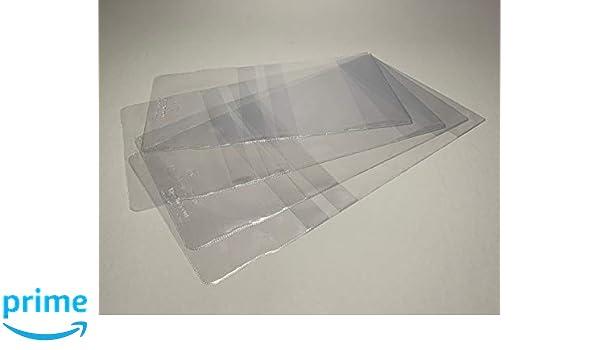 190 mm 5 St/ück Buchumschlag aus PVC 140 Mikron