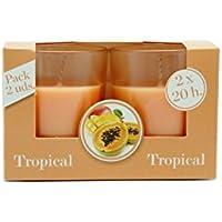 Ambientair VV002MNAA - Pack 2 Velas, aroma Tropical
