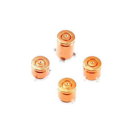 uminium Buttons für Xbox ONE Microsoft Controller Munition Bullet Tasten Kappen Zubehör Patrone Mod Custom Patronensticks Tuning - GOLD ()