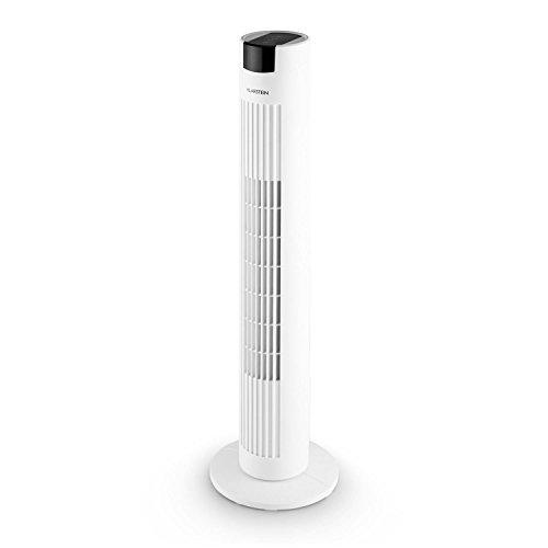Klarstein Skyscraper 2G • Summer Edition • Ventilatore • Ventilatore a Colonna • Pannello Touch • Telecomando • Salvaspazio • 40W • Diffusore Aromatico • Bianco