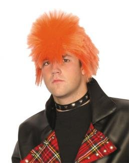 Orange Spikey Scotsman Wig - Ideal for Punk Dress-Up