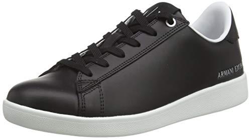 Armani Exchange Damen Sneaker, Schwarz (Black S002), 38 EU