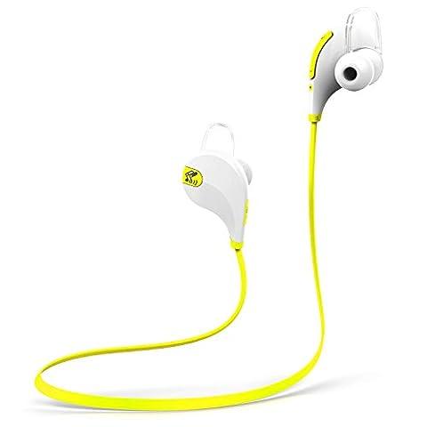 Bluetooth-Kopfhörer, SoundPEATS Bluetooth 4.0 drahtloser Sport-Kopfhörer mit Mikrofon für