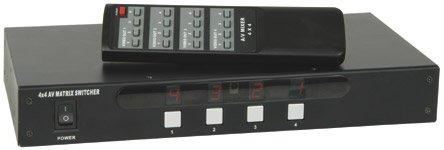 (UK Version) 4x 4AV MATRIX Switcher mit IR-Fernbedienung Av Matrix Switcher
