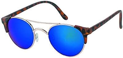 Chic-Net gafas de sol de marco de metal de la vendimia alrededor Cat John Lennon 400UV Retro ojo estrecho