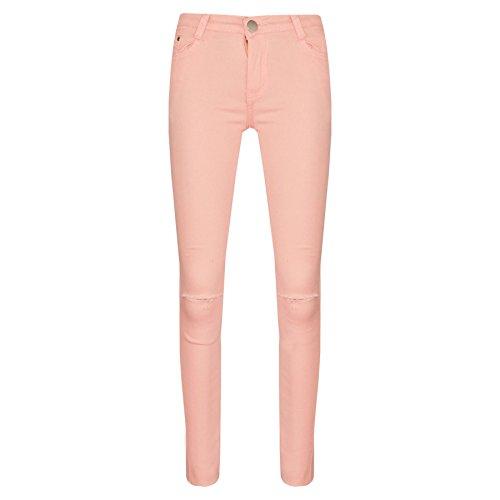 A2z 4 kids® ragazze elastico nero jeans bambini strappato - girls jeans ripped peach_9-10