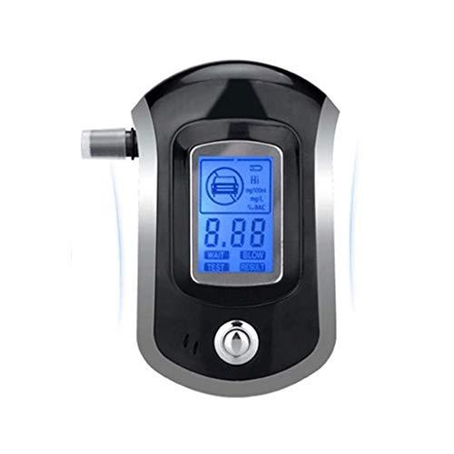Alkoholtester tragbarer Atemtester mit digitaler Anzeige, LCD-Anzeige, praktisch, leicht, tragbares Design, Fahrzubehör