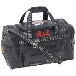 Diamond Plate 17.5 Leather LTR Duffle Bag (Leder Rebel Flag)