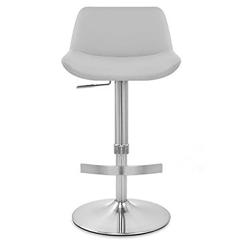Hoffom brossé Tabouret Chaise de bar pivotant en simili cuir Tabouret de cuisine