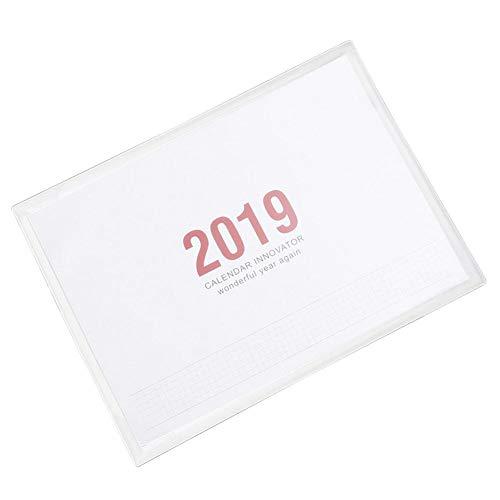 Custom Home Office Schreibtische (Flackernder 2019 Kalender Kleiner frischer Stil Desktop Dekoration Arbeit Custom Seite Home Office Planungsbuch Khaki)