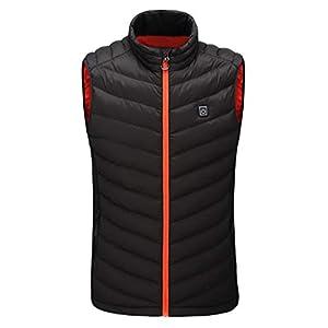 EUZeo Beheizte Weste, USB Wiederaufladbar Heizweste Warme Heat Jacke für Damen und Herren, Elektrische Beheizte Jacke für Männer, Frauen Outdoor Reisen Motorsport Radfahren Skifahren