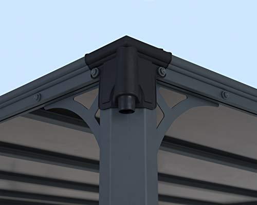 Aluminium Pavillon Überdachung Gazebo Milano 300 308×308 cm // Sommer-Pavillon und Garrtenpavillon mit 6mm Doppelstegplatten - 5