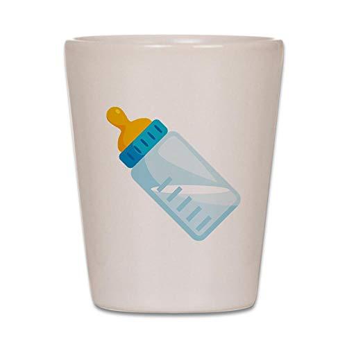 CafePress Babyflasche Emoji Schnapsglas weiß