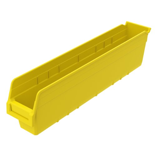 Akro-Mils 30044YELLO ShelfMax Kunststoff-Aufbewahrungsbox, stapelbar, 23-5/8 cm, L/4-1/8 cm W x 15 cm hoch, Gelb, 16 Stück -
