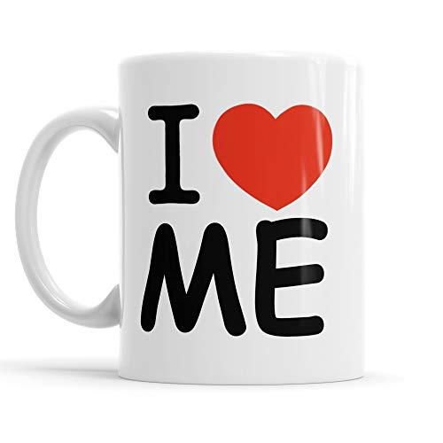 Lamaglieria tazza mug i love me - tazza da thè e caffè in ceramica divertente