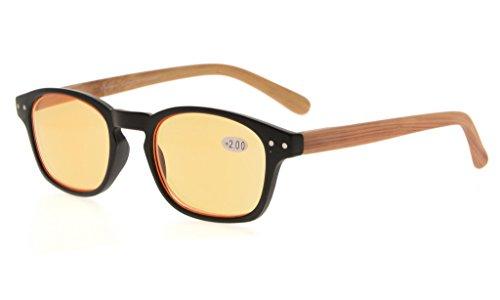 Eyekepper bambu Wood Design Templi Primavera perno del computer Occhiali Lettori occhiali da lettura+0.50