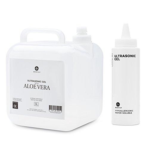 Medvat Transparentes Transmissionsgel 5 Liter + 8-Unze. nachfüllbare Flasche klar -