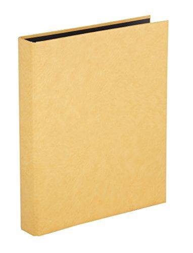 Herma 7551 Foto Ringalbum Classic beige (Format 26,5 x 31,5 cm) 4 Ringe, für max. 30 Blatt/60 Seiten, Kunststoff Vinyl, 1 Fotoalbum Ringbuch sand
