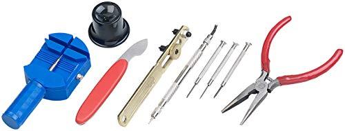 AGT Uhren Reparaturset: Uhrmacherwerkzeug-Set, 9-teilig, Profi-Qualität (Uhrmacherset)