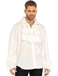 THE Herren Kostüm Rüschenhemd Jabot Pirat Barock grün Karneval